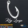 Key Largo Fishing Hook Decal Sticker