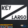 Key Largo Scuba Dive Flag Decal Sticker