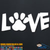 Love Dog Cat Pet Paw Decal Sticker