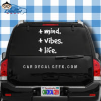 Positive Mind Positive Vibes Positive Life Car Window Decal Sticker