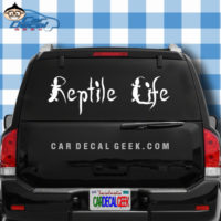 Reptile Life Car Window Decal Sticker