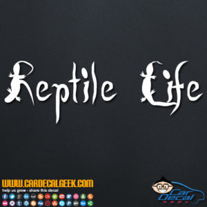Reptile Life Decal Sticker