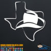 Texas Cowboy Hat Decal Sticker