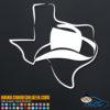 Texas Cowboy Hat Decal Sticker