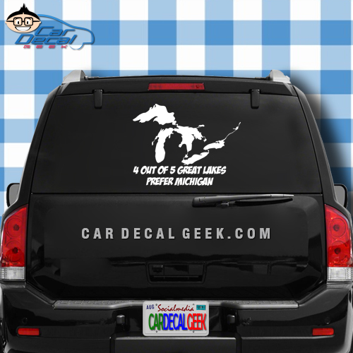 4 out of 5 great lakes prefer michigan car window decal sticker
