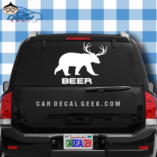 Beer Bear Deer Car Truck Window Decal Sticker