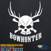 Bowhunter Hunting Skull Decal Sticker