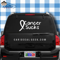 Cancer Sucks Car Window Decal Sticker