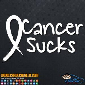 Cancer Sucks Decal Sticker