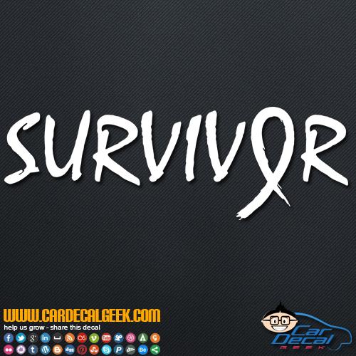 Cancer Survivor Decal Sticker