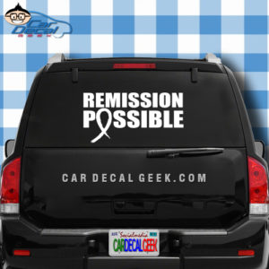 Remission Possbile Car Window Decal Sticker