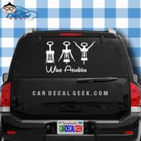 Wine Aerobics Car Window Decal Sticker