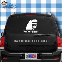 Winosaur Car Window Decal Sticker