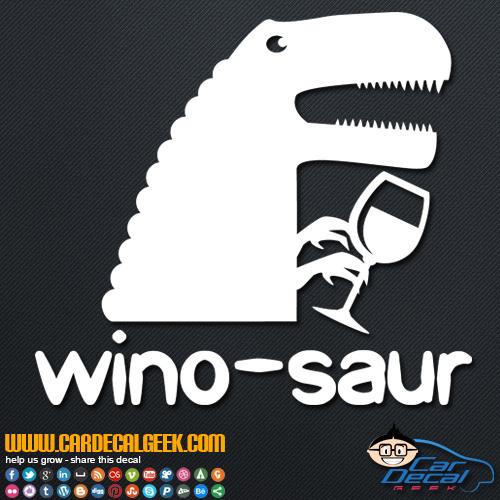 Winosaur Decal Sticker