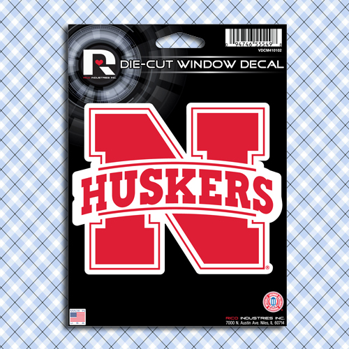 Nebraska Huskers Car Window Decal Sticker