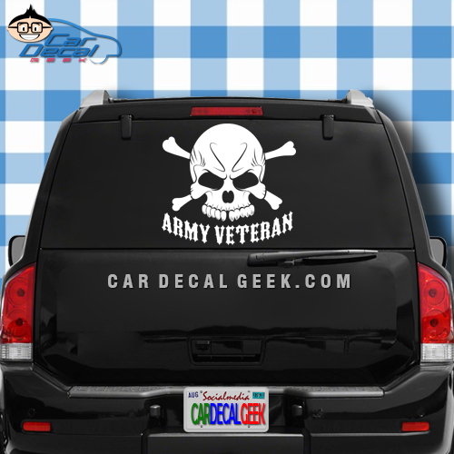 Army Veteran Car Truck Window Decal Sticker