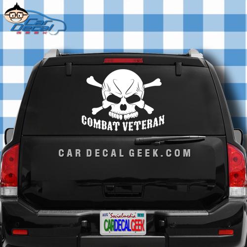 Proud Veteran Skull Car Truck Window Decal Sticker