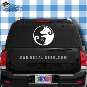 Dog and Cat Yin Yang Car Window Decal Sticker