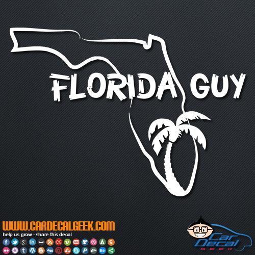 Florida Guy Decal Sticker