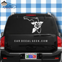 Florida Tropical Hibiscus Flower Car Window Decal Sticker