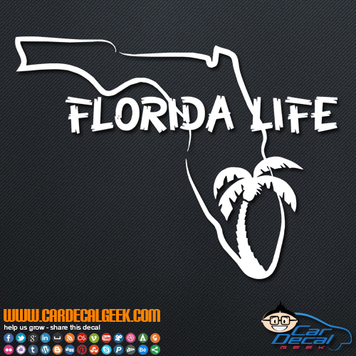 Florida Life Decal Sticker