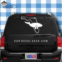Florida Manatee Car Window Decal Sticker