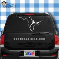 Florida Fishing Marlin Swordfish Car Window Decal Sticker
