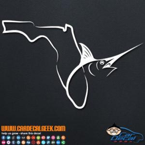 Florida Fishing Marlin Swordfish Decal Sticker
