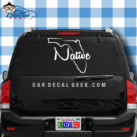 Florida Native Car Window Decal Sticker