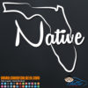 Florida Native Decal Sticker