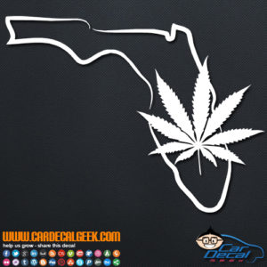Florida Marijuana Pot Leaf Decal Sticker