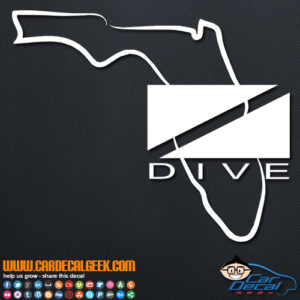 Florida Scuba Dive Flag Decal Sticker