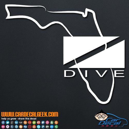 Florida Scuba Dive Flag Decal Sticker