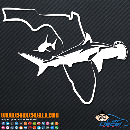 Florida Swimming Sharks Decal Sticker