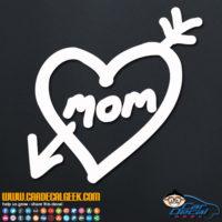 Mom Love Heart Arrow Tattoo