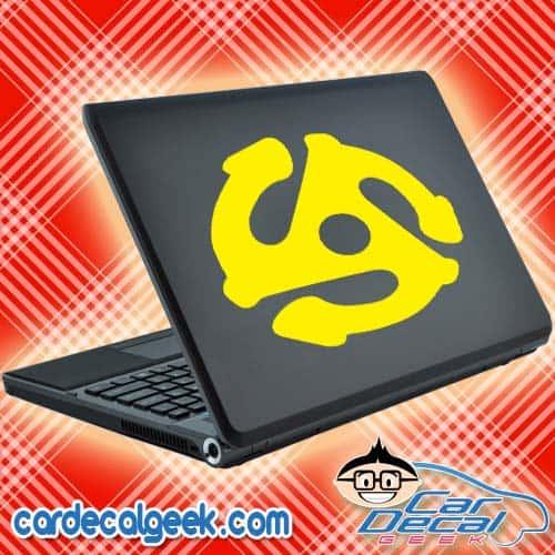Retro 45 Record Adapter Laptop Decal Sticker