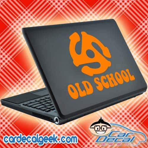 Old School 45 Adapter Laptop Decal Sticker