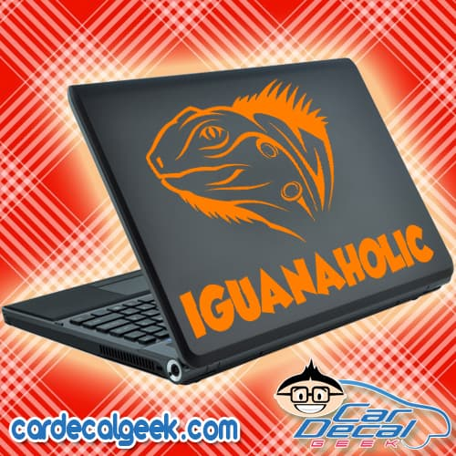 Iguanaholic Laptop Decal Sticker