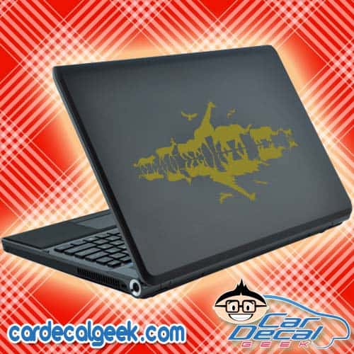 African Animals Reflections Laptop Decal Sticker