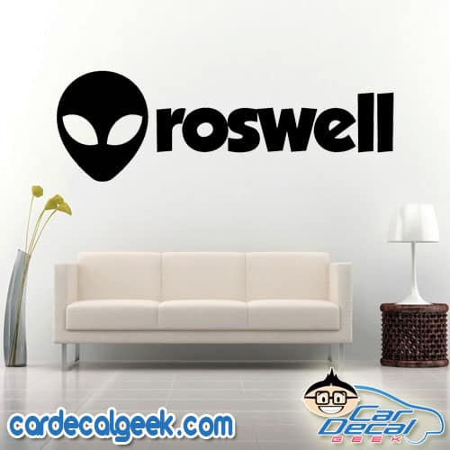 Roswell Alien Wall Decal Sticker