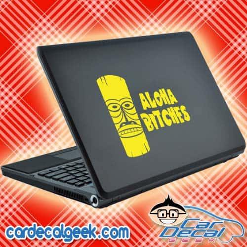 Aloha Bitches Hawaiian Tiki Laptop Decal Sticker