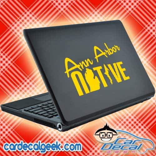 Ann Arbor Native Laptop Decal Sticker