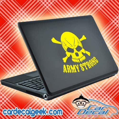 Army Strong Skull Laptop Decal Sticker