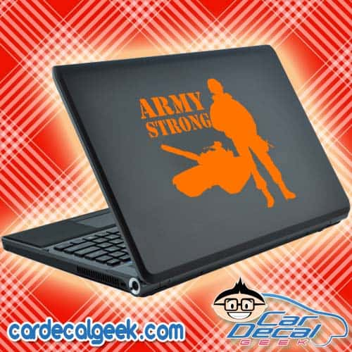Army Strong Laptop Decal Sticker