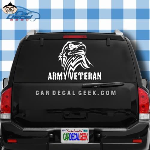 Army Veteran Eagle Car Truck Window Decal Sticker