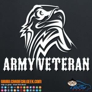 Army Veteran Eagle Decal Sticker