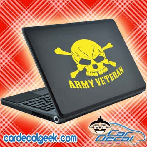 Army Veteran Laptop Decal Sticker