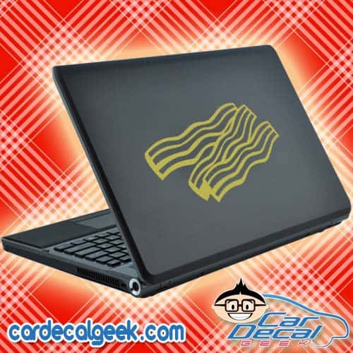 Bacon Strips Laptop Decal Sticker