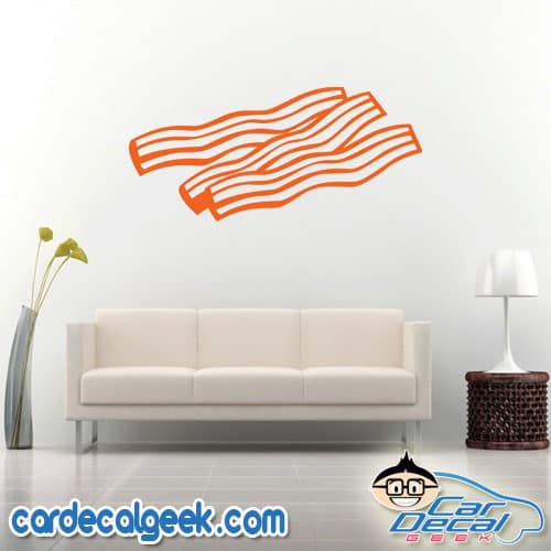 Bacon Strips Wall Decal Sticker