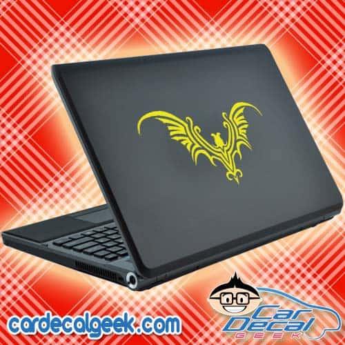 Tribal Bat Laptop Decal Sticker